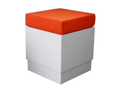 White Aslo Footstool 40