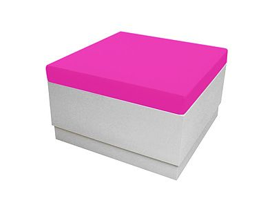 White Aslo Footstool 80