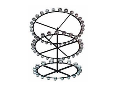 Wrought Iron Chandelier with glass diffusers