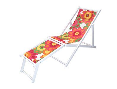 White Fabric Lounger